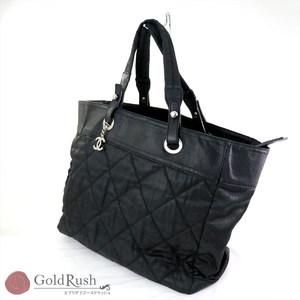 CHANEL tote bag nylon black matras kokomark ladies' translation