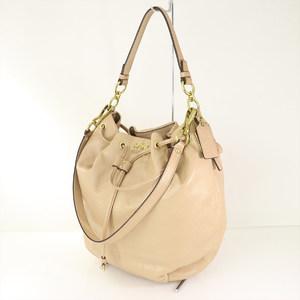 COACH beige leather shoulder bag 2way Madison 17016 Women
