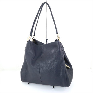 COACH Navy Leather Tote F35723 Women