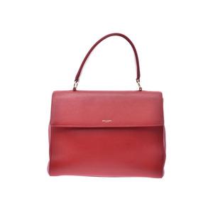 Saint Laurent Musik Red Ladies Calf 2WAY Handbag AB Rank SAINT LAURENT Strap Used Ginzo