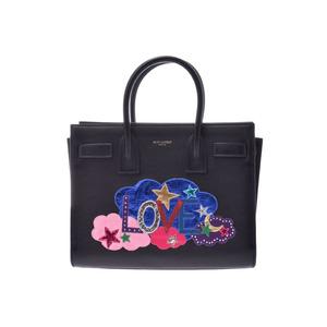 Saint-Laurent Sac De Jules Baby LOVE Black Ladies Calf 2WAY Bag A Rank Beauty Product SAINT LAURENT With Strap Used Ginzo