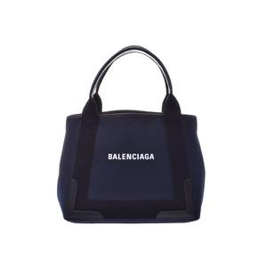 Balenciaga Navy Hippo S Ladies Canvas Handbag A rank beauty item BALENCIAGA Pouch used Ginzo