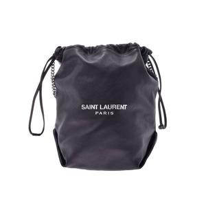 Saint Laurent Shoulder Bag Drawstring Type Black Ladies Men's Calf AB Rank SAINT LAURENT Used Ginzo