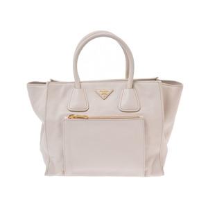 Prada 2WAY tote bag ivory BN 2626 Ladies Calf B rank PRADA with strap Used Ginzo