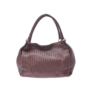 Bottega Veneta Handbags Intrecciato Outlet Products Brown Men's Ladies Lambskin B Rank BOTTEGA VENETA Used Ginzo
