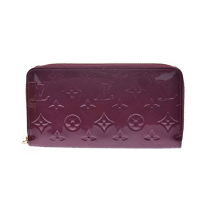 Louis Vuitton Vernis Zippy wallet Rouge For Vist M91536 Women's long A rank LOUIS VUITTON used Ginzo