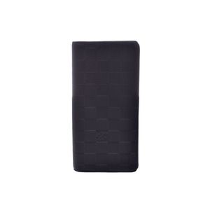 Louis Vuitton Damier Anfini Portofoile Bola Onyx Old Type N63010 Men's Genuine Leather Long Wallet New Same Product LOUIS VUITTON Used Ginzo