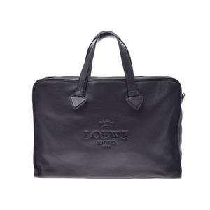 Loewe Briefcase Black G Bracket Men's Calf Business Bag AB Rank LOEWE Used Ginzo
