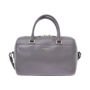 Saint Laurent Baby Duffel Gray Ladies Calf 2WAY Handbag B Rank SAINT LAURENT PARIS Used Ginzo