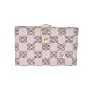 Louis Vuitton Azur Portofeuyuvienova White N61676 Men's Women's Genuine Leather Purse AB Rank LOUIS VUITTON Used Ginzo