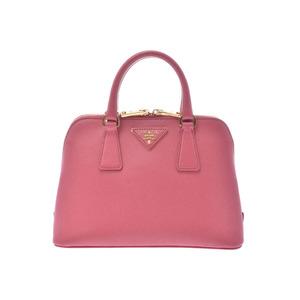 Prada 2WAY handbag Pink G metal fittings BL0838 Womens Safiano A rank good product PRADA Galla with strap Used Ginzo