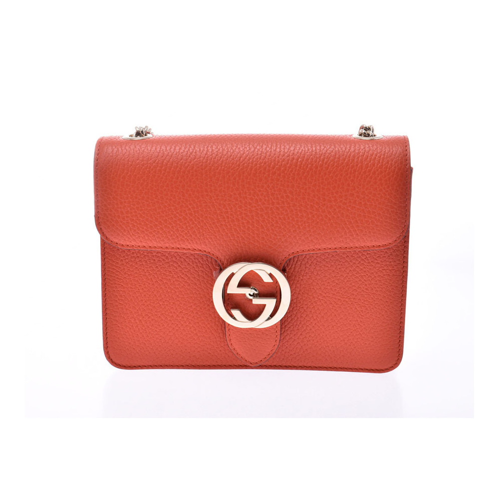 best website 1776b 460c5 Gucci chain shoulder bag Soho orange G bracket Women's calf outlet new same  beauty goods GUCCI used Ginzo | eLady.com