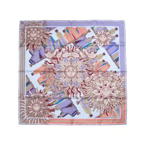 Unused Hermes Calle 90 Poibos belly band LES SANGLES DE PHOEBUS 100% Silk Blue Pink Scarf 0073 HERMES