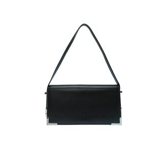 Beauty Product Celine Leather 2WAY Shoulder Bag Black 0078CELINE