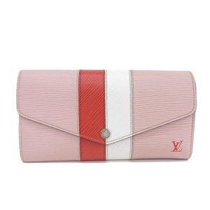 Genuine LOUIS VUITTON Louis Vuitton Epi Porto Fouille Sarah Rose Valerie Long Wallet Pink Red Leather
