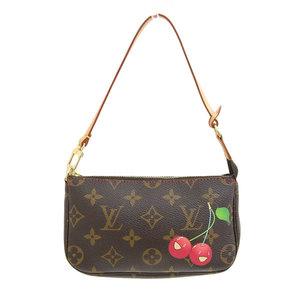 Genuine LOUIS VUITTON Louis Vuitton Monogram Cherry Accesoire Pouch Gold Hardware Model number: M95008 Bag leather