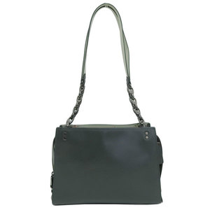 Genuine COACH coach leather tote bag dark green 26830