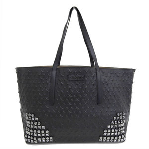 Genuine JIMMY CHOO Jimmy Cho leather multi-studded tote bag black