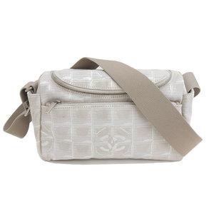 Genuine CHANEL Chanel New Travel Shoulder Bag Beige 6th Series Leather