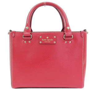 Genuine KATE SPADE Kate Spade Leather 2WAY Handbag Shoulder Bag Red