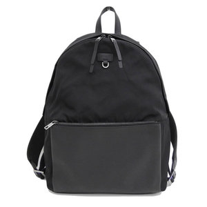 Genuine FURLA Furura leather × nylon rucksack black bag