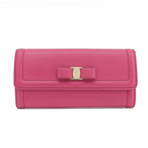 Real Salvatore Ferragamo Vara Leather Purse Pink