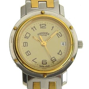 Genuine HERMES Hermes Clipper Ladies Quartz Watch