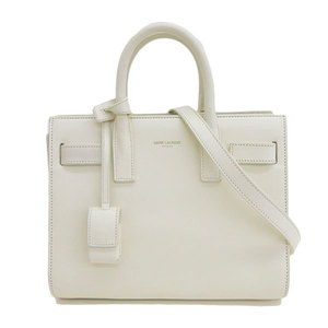 SAINT LAURENT PARIS Saint Laurent Paris Babysac de Jules 2WAY Handbag Off-White Bag Leather