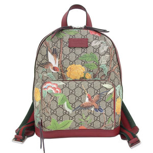 Genuine GUCCI Gucci GG Supreme Tian Small Backpack 427042 Bag Leather