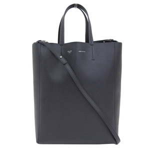 CELINE Celine Vertical Hippo Small 2 Way Tote Bag Black Leather
