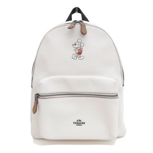 COACH Coach Disney Mickey Leather Backpack Ivory F59378 Bag