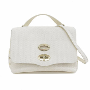 Genuine ZANELLATO Zanellato Postina Mini 2WAY Shoulder Bag White Leather