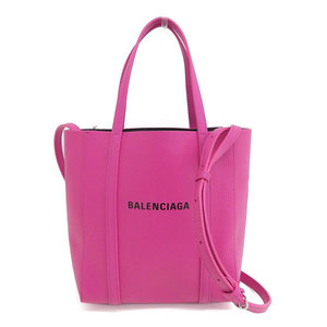Genuine BALENCIA GA Balenciaga calf Everyday XX S 2WAY tote bag pink 551815 leather