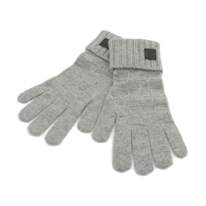 LOUISVUITTON Louis Vuitton Gon Helsinki Damier Gloves Glove 100% Cashmere Gray Griller M72679 20190130