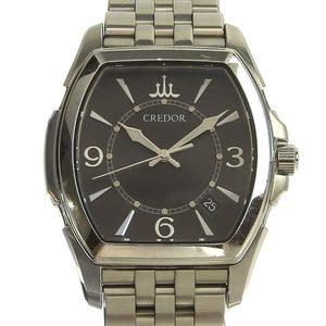 SEIKO Credor Men's Quartz Watch Black Dial GCAX983 8J82-0AC0