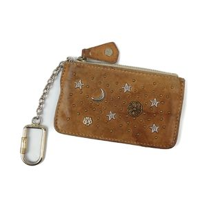 Jimmy Cho JIMMY CHOO Zodiac + Star Coin Case Purses Studs Key Men's Women's ZODIAC STAR Light Brown
