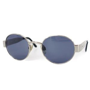 Chanel CHANEL Boston type sunglasses women made in Italy Silver blue based lens with case