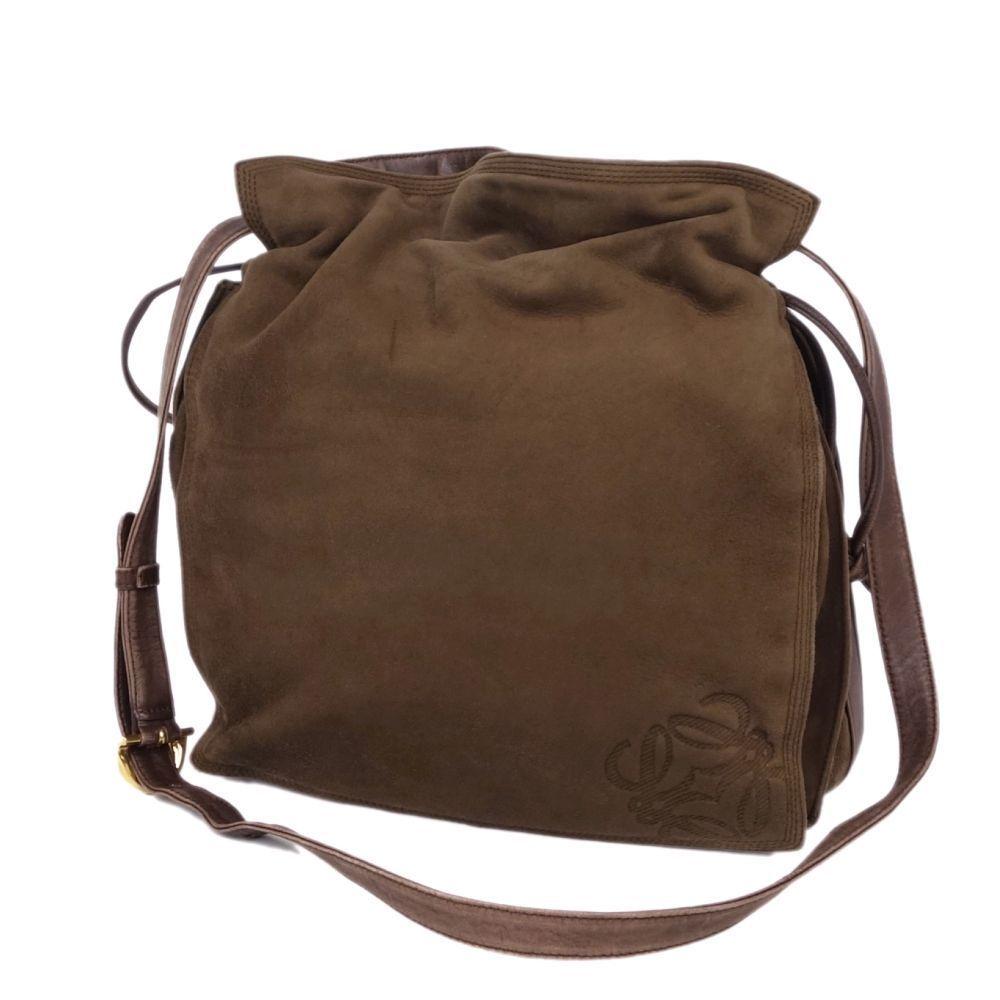 ロエベ(Loewe) ロエベ LOEWE レディース 斜めがけ アナグラム ショルダーバッグ スウェード レザー ブラウン レディースバッグ 本革 バッグ 鞄