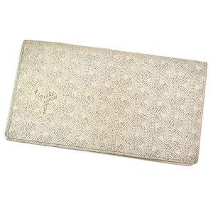 ゴヤール(Goyard) ゴヤール GOYARD フランス製 二つ折り 総柄 PVC レザー ロングウォレット 財布 長財布 メンズ レディース