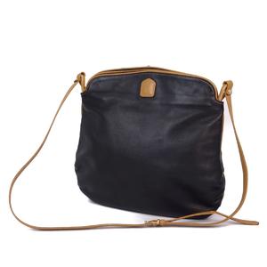 セリーヌ (Celine) Vintage セリーヌ CELINE イタリア製 レディース マカダム ショルダーバッグ レザー 本革 バッグ 鞄 ブラック レディースバッグ