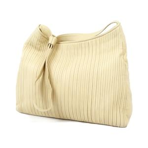 Loewe LOEWE Women's Lambskin Shoulder Bag Plain Beige Cream Leather Genuine Spanish Ladies 鞄