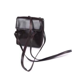 Loewe LOEWE Women's Shoulder Bag 鞄 Strap All Leather Simple Plain Dark Brown