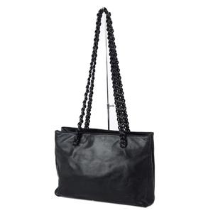 Prada PRADA leather shoulder bag semi women made in Italy dark green ~ black