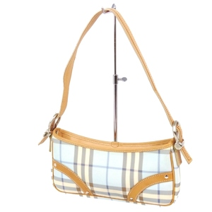 Burberry London BURBERRY LONDON Checked handbag Semi-shoulder bag Made in Italy PVC Leather Ladies Blue