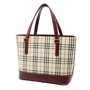 Burberry BURBERRY Nova Check Ladies Handbag PVC Gold Campus Beige Bordeaux Gift Present All Season