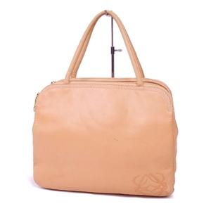 Loewe LOEWE Women's Anagram Lamb Leather Handbag Genuine Bag ベ ー ジ ュ Beige Ladies Spain