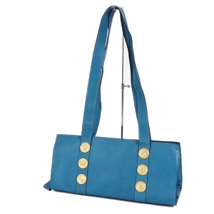 Vintage Fendi FENDI Constellation Motif Leather Shoulder Bag Women's Italian Blue Bags
