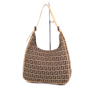 Fendi FENDI made in Italy Zucca Pattern Shoulder bag Canvas leather Brown Ladies Bag バ ッ グ