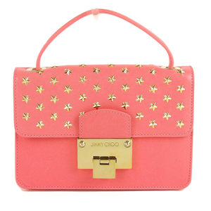 Jimmy Cho JIMMY CHOO Star studs 2WAY bag pink gold hardware