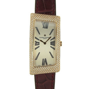 Vacheron Constantin 1972 Asymmetric Grand Curved Watch K18 Diamond Bezel